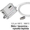 [Pyrometer Optris CT G5 - meranie teploty skla]