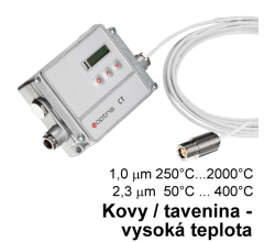 Pyrometer Optris CT 1M/2M/3M - pre meranie kovov